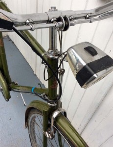 Rod Brakes on a Raleigh Bicycle