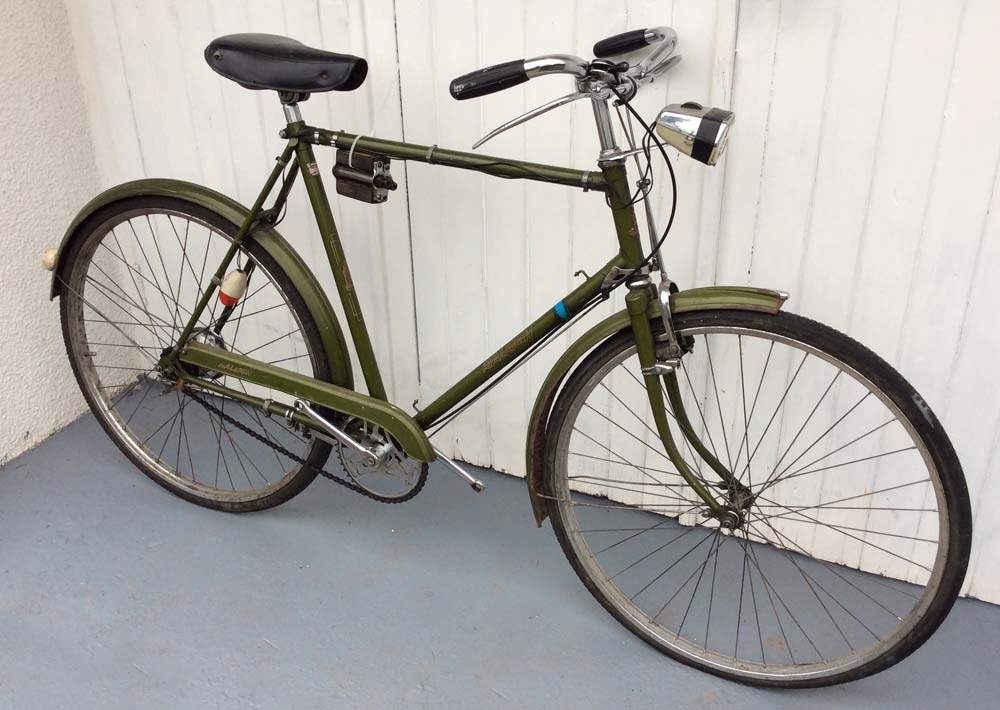Green Raleigh Bicycle