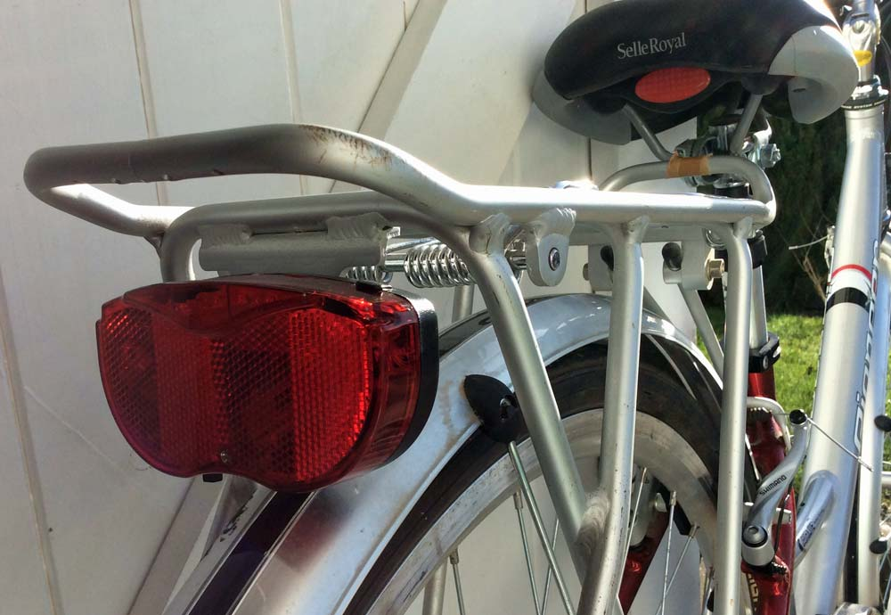 Rear Light on Raleigh Pioneer Bicycle