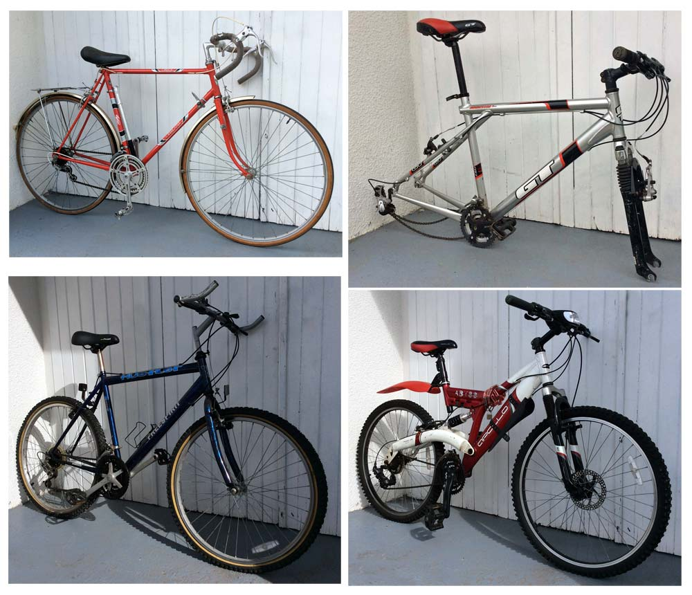 Four different bikes