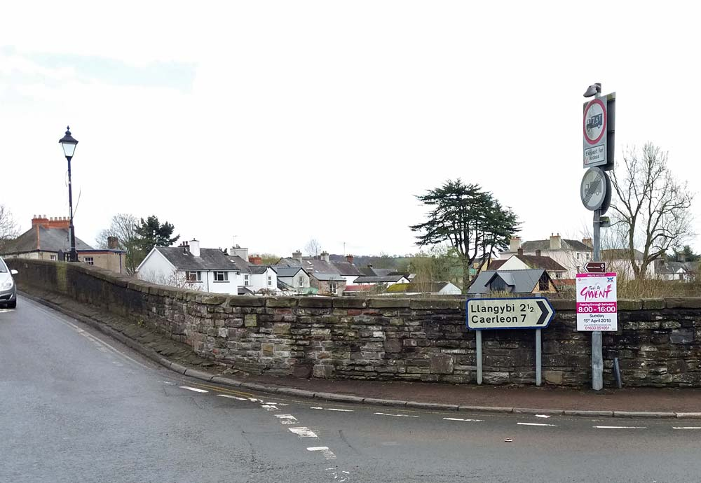 Tour de Gwent Sign in front of stone wall