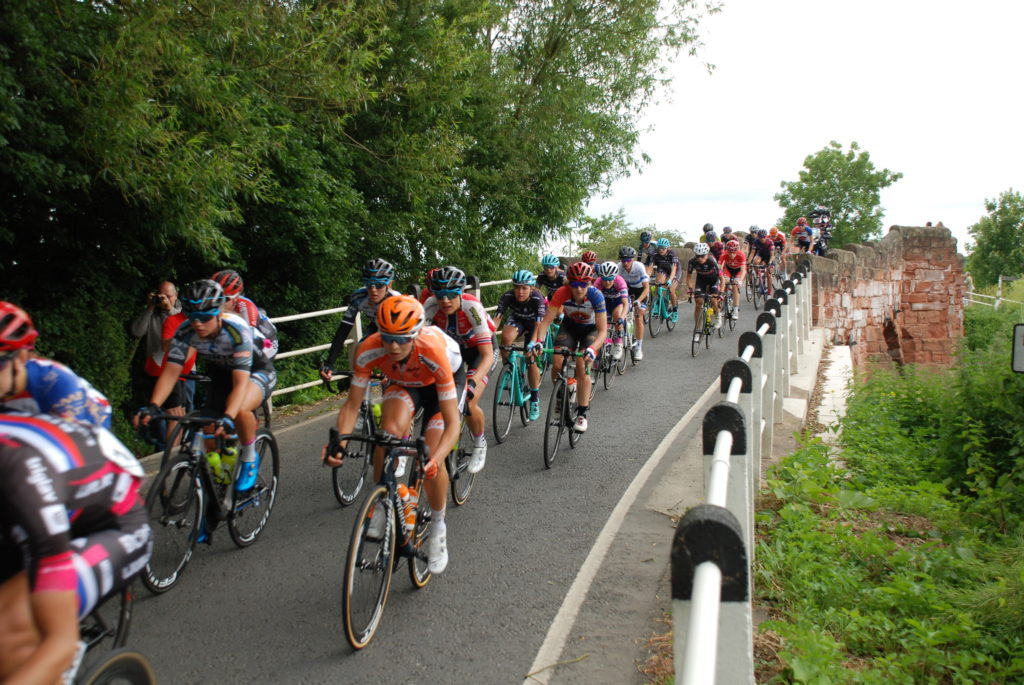Cyclists in Women's Tour Race 2018