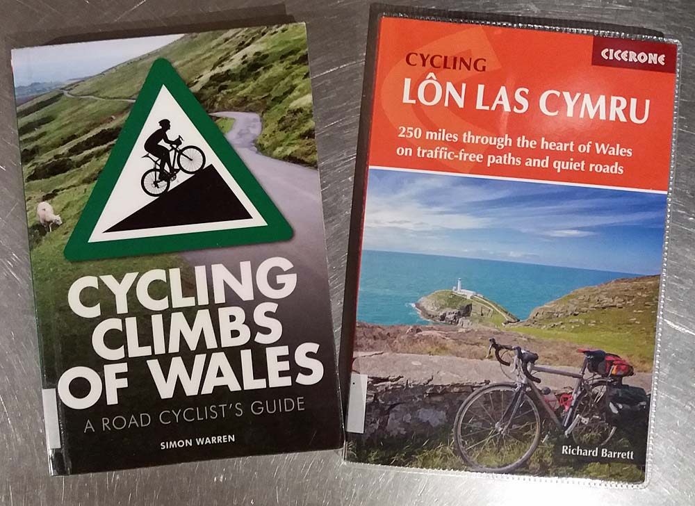 Book Covers Cycling Climbs of Wales and Los Las Cymru