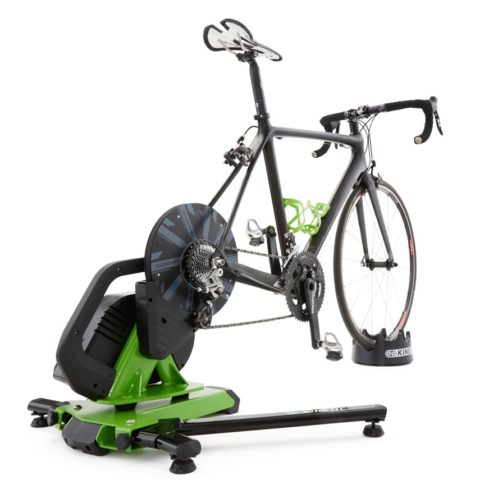 Bicycle on an indoor turbo trainer